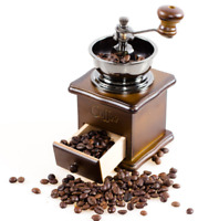 Manual Coffee Bean Spice Herbs Vintage Retro Hand Grinder Wooden Burr Mill New