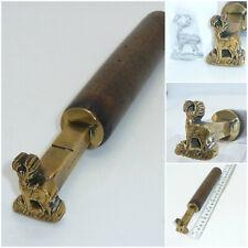 Antique Book Binding Gilding Brass Tool Stag Heraldic Crest Morris & Co London