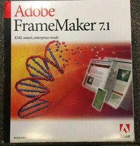Adobe FrameMaker 7.1 with WebWorks Publisher - New/Open Box