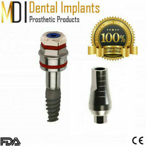 50 Dental implants STERILE with 50 Straight Abutments Int-hex
