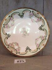 VICTORIAN ERA J.C. LIMOGES Cabinet Plate Tiny Pink Roses & Gilding
