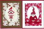 Handmade CROSS STITCH  CHRISTMAS CARDS #CX-X--Lot of 2