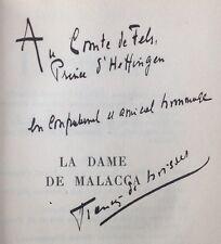ENVOI dédicace F.de CROISSET: LA DAME DE MALACCA Cte de Fels Prince de Heffingen