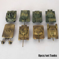 8pcs DIY Assembly 1:72 Tanks Heavy Weapons Armor Tank Military Vehicle Models