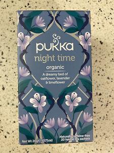 Pukka Night Time Tea - 20 Tea Satchets - Peaceful Sleep Tea Sealed Exp 1/24
