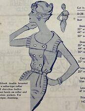 Modes Royale Vintage Sewing Pattern D 38 Dress Bust 34