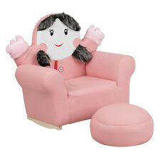 Flash Furniture Kids Pink Little Girl Rocker Lounge Chair and Footrest  HR-27-GG
