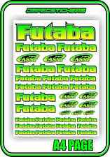 RC FUTABA RADIO STICKER DECAL SHEET REMOTE CONTROL PLANE CAR BOAT GREEN BLEND