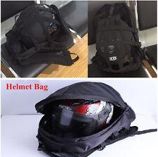 Muiltfunction Motorcycle Motor Oxford Cloth Waterproof Helmet Bag Backpack Black