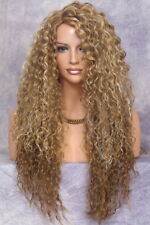 """30"""" Long Spiral Curly HEAT SAFE Wavy Full Wig Blonde mix Hairpiece JSQU 2216 NWT"""