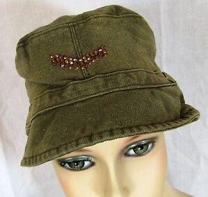 Khaki Hat Diamante Detail Corporal Stripes Medium A2