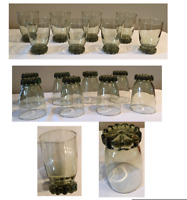VINTAGE Libbey Green 20 oz. Drinking Glass Tumblers Set of 8