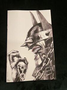 BATMAN WHO LAUGHS #1 MICO SUAYAN B/W VIRGIN EXCLUSIVE