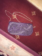 LYDC Purple Faux Leather Clutch Bag With Chrome Studs-bargain price too!