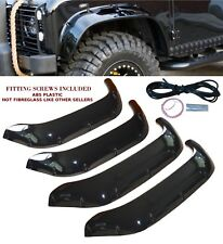 4x LAND ROVER DEFENDER 90 110 130 WIDE WHEEL ARCHES EXTENDED ARCHES GLOSS BLACK