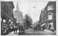 POSTCARD    KENT    DOVER  Biggin  Street  St  Mary's  Church
