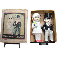 Bisque Bride and Groom Set - Mint in Box - 1920's
