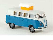 Brekina 31569 VW Camper T1b lichtgrau brillantblau Hubdach offen 1:87 Neu