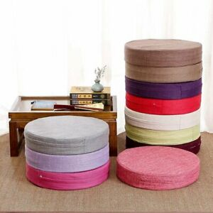 Chair Pad Pure Color Removable Cushion Breathable Round Mat Balcony Thick Pad
