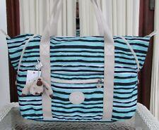 Kipling Art M Spectacle Stripe Tote Travel Weekender Bag TM5444 NWT