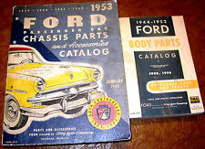 1949 1950 1951 1952 Ford Chassis & Body Parts Book Crestline Custom 49 50 51 52