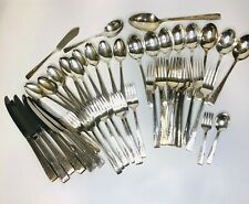 VTG 1881 Rogers ONeida Silver Plate 'Proposal' - 45 Pc Utensil Set Mixed Lot