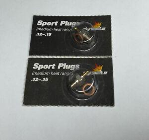 2 x Dynamite Sport .12-.15 Glow Plug (Medium) [DYN2500] - Engines