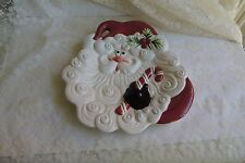 Fitz & Floyd Essentials Santa Candy Cane Christmas Canape Cookie Plate 10 x 8.25