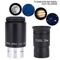 Multi-coated 20mm/32mm Plossl 1.25'' Telescope Eyepiece Lens for Celestial LJ