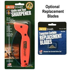 AccuSharp 014C Knife Sharpener Tungsten Carbide - Optional Replacement Blades