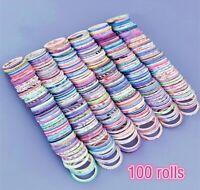 50/100 Rolls Foil Gold Skinny Washi Tapes Set,1-5MM Wide DIY Tape