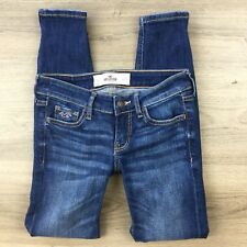 Hollister Women's or Girls Jeans Skinny ZIp Ankle Size 23 Actual W24 L26 (BP11)