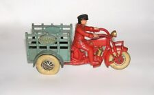 "Hubley Cast Iron Traffic Car Motorcycle 9"" Size NO RESERVE (DAKOTApaul)"