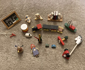 Collection Of Wooden Dolls House Nursery / Children's Toys Some Vintage