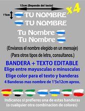pp50-4 4 x Bandera Galicia España Nombre editable Pegatina bicicleta Vinilo