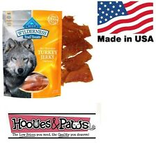Natural Blue Buffalo Wilderness Healthy Dog Turkey Jerky Grain Free MADE IN USA