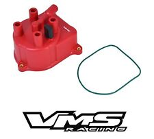 VMS RACING RED OE STYLE DISTRIBUTOR CAP FOR 92-01 HONDA PRELUDE 2.0L 2.2L 2.3L