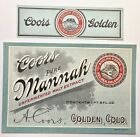 Vintage Pre-Pro Coors Mannah Malt Beer Label W/ Neck  Adolph Coors Golden CO