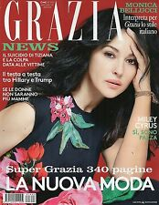 MONICA BELLUCCI NEW GRAZIA MAGAZINE ITALY SEPTEMBER 2016 MILEY CYRUS MODELS LOOK