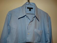 H & H   Men's L. Blue  SHIRT   Sz. 15- 15.5  M
