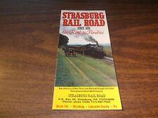 1990 STRASBURG RAIL ROAD TIMETABLE AND BROCHURE