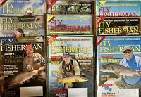 Fly Fisherman Lot Of 9 Fishing Magazines 2008 - 2010 Mix Advertising Angler Lure