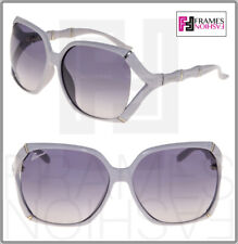 458bba93a8b Gucci Bamboo GG0505S Beige Gold Grey Gradient Oversized Sunglasses 3508 0505