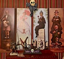 """New Style Haunted Mansion Stretching Room Gallery set of 4 16x48"""" HTF Disneyland"""