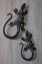 Wandhänger, Wanddeko, Metall-Deko, Gecko, 2er Set