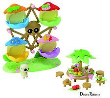 YooHoo and Friends Small Flocked Figure / Figurines Festive Park Set