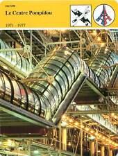 FICHE CARD Le Centre Pompidou/Beaubourg quartier Saint-Merri Paris France 90s
