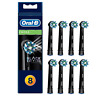 Braun Oral-B CrossAction Replacement Toothbrush Heads 8-pk, Black Edition. NEW