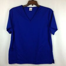B Scrubs Womens Size 1X Short Sleeve Front Pockets Scrub Top