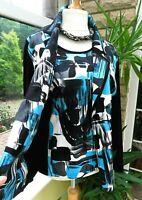 BNWT Gorgeous PERSONAL CHOICE Pattern Print T'shirt Top/Jacket Set sz 24